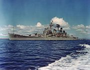 USS Boston (CAG-1) underway in Guantanamo Bay on 10 January 1967