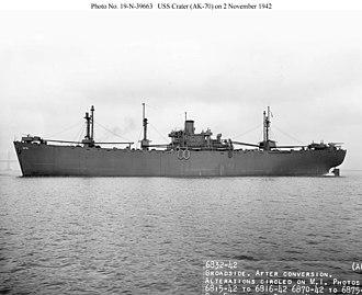USS Crater (AK-70) - Image: USS Crater (AK 70)