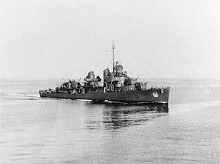 USS <i>De Haven</i> (DD-469) Fletcher-class destroyer