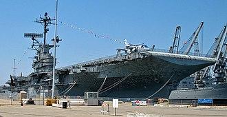 USS Hornet Museum - USS Hornet docked in Alameda