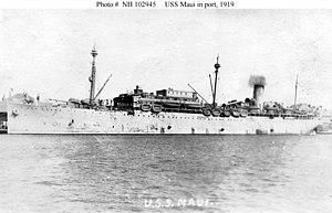 SS Maui (1916) - USS Maui in 1919.