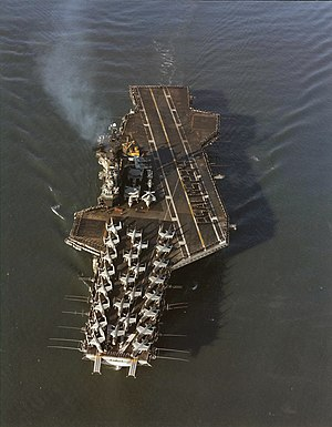 USS Midway (CV-41) - Midway en route to South-East Asia in April 1972