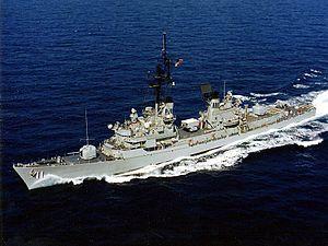 USS Sellers (DDG-11) underway in the 1980s