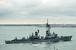 USS Semmes (DDG-18) at Hampton Roads 1987