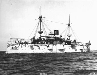 USS Texas (1892) - Texas prior to the Spanish–American War