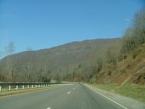 U.S. Route 23 in Virginia - Northbound US 23 near Duffield