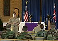 US Navy 031215-N-9565D-001 Master Chief Petty Officer of the Navy (MCPON) Terry Scott speaks to service members assigned to Commander, U.S. Naval Activities, United Kingdom.jpg