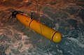 US Navy 040708-N-6932B-136 A Battle-Space Preparation Autonomous Underwater Vehicle (BPAUV) is lowered into the Pacific Ocean from High-Speed Vessel Swift (HSV 2) during the first night-time launch.jpg