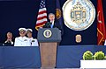 US Navy 050527-F-7379W-192 President George W. Bush delivers his remarks as part of the U.S. Naval Academy class of 2005 Graduation and Commissioning Ceremony.jpg