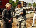US Navy 070810-N-4515N-318 Secretary of Transportation, Mary E. Peters, tours the site of the I-35 bridge collapse.jpg