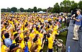 US Navy 080718-N-1232M-254 ailors dressed in the new physical fitness uniform from various commands aboard Naval Station Great Lakes enjoy a free concert.jpg