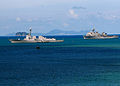 US Navy 090625-N-4007G-062 USS Gridley (DDG 101) and USS Comstock (LSD 45) are anchored in Phuket Bay.jpg