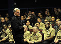 US Navy 100204-N-8273J-095 Chief of Naval Operations (CNO) Adm. Gary Roughead speaks with Sailors during an all-hands call at Naval Base San Diego.jpg