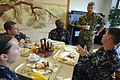 US Navy 100831-N-9818V-003 Master Chief Petty Officer of the Navy (MCPON) Rick West talks with Sailors during breakfast with the Sailors of the Year during his visit to Fleet Activities Yokosuka.jpg