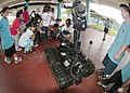 US Navy 110223-N-3620L-029 Students at Wettengel Elementary School play with a bomb disposal robot from Explosive Ordnance Disposal Mobile Unit (EO.jpg