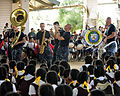 US Navy 110419-F-HS649-068 Members of the Pacific Partnership Band perform at Vava'u High School during a Pacific Partnership 2011 community servic.jpg
