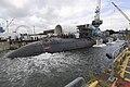 US Navy 110804-N-TT535-012 Shipyard workers at Portsmouth Naval Shipyard successfully undock the Los Angeles-class submarine USS San Juan (SSN 751).jpg