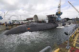 USS San Juan (SSN-751) - San Juan undocking at PNSY, 2011