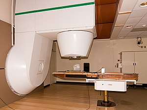 Patient treating room for neutron radiation th...