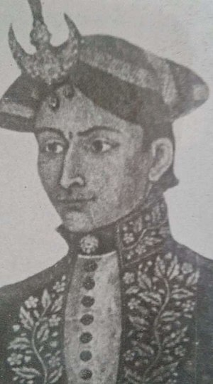 Ujir Singh Thapa - Colonel Ujir Singh Thapa Kaji wearing noble attire at young age