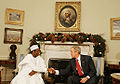 Umaru YarAdua with George Bush December 13, 2007.jpg