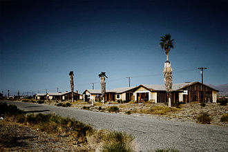 Salton City, California - Four unfinished and abandoned houses in Salton City, CA on the west shore of Salton Sea.
