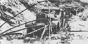 Case White - Destroyed Italian column near Drežnica, February 1943.