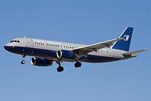 Un Airbus A320-200 in atterraggio
