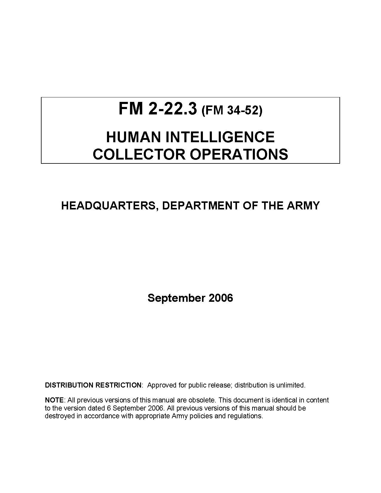 file united states army field manual 2 22 3 on interrogation rh commons wikimedia org Army Field Manual 3 24 Army Field Manual 3 24