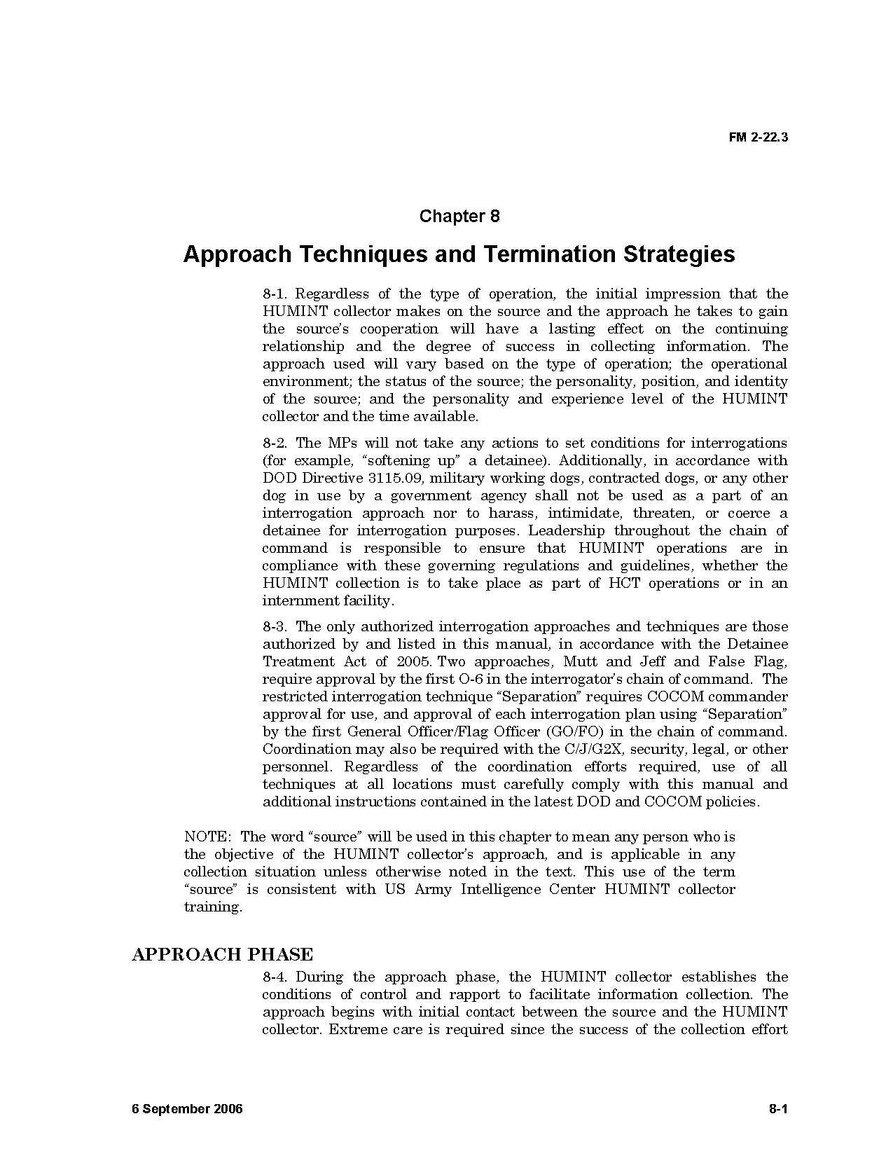 :United States Army Field Manual 2-22-3 -- on interrogation ...
