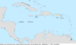 Map of the United States in the Caribbean Sea from September 17, 1981, to the present