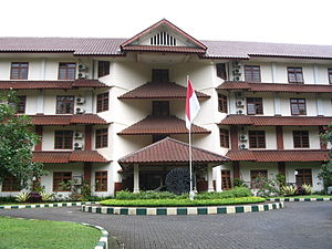 Jagakarsa - Wisma Makara or Makara Lodge, is a student meeting facility building situated in Jagakarsa Subdistrict, in the Jakarta side of the complex of University of Indonesia.