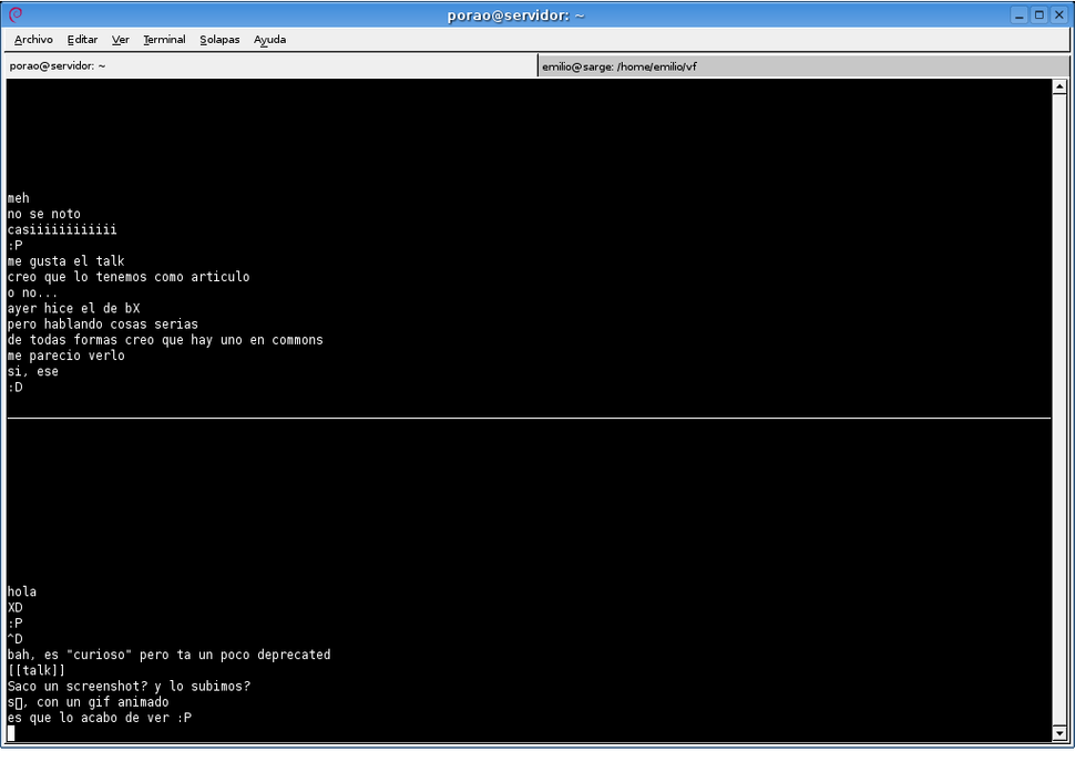 Unix talk screenshot 01