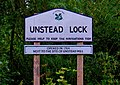 Unstead Lock sign, Godalming Navigation - geograph.org.uk - 1419623.jpg