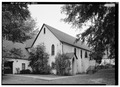 VIEW OF PARISH HOUSE FROM NORTHWEST - Church of the Holy Cross, State Route 261, Stateburg, Sumter County, SC HABS SC,43-STATBU.V,1-39.tif