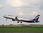 VP-BAZ Aeroflot Airbus A321-211, takeoff from Schiphol (EHAM-AMS) runway 36L pic3.JPG