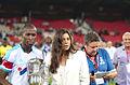 Valais Cup 2013 - OM-FC Porto 13-07-2013 - Rod Fanni et Marion Bartoli 1.jpg