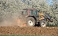 Valtra tractor with Quicke front loader and Howard power harrow 4200126.jpg
