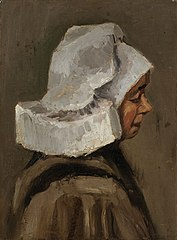 Head of a Peasant Woman with White Cap