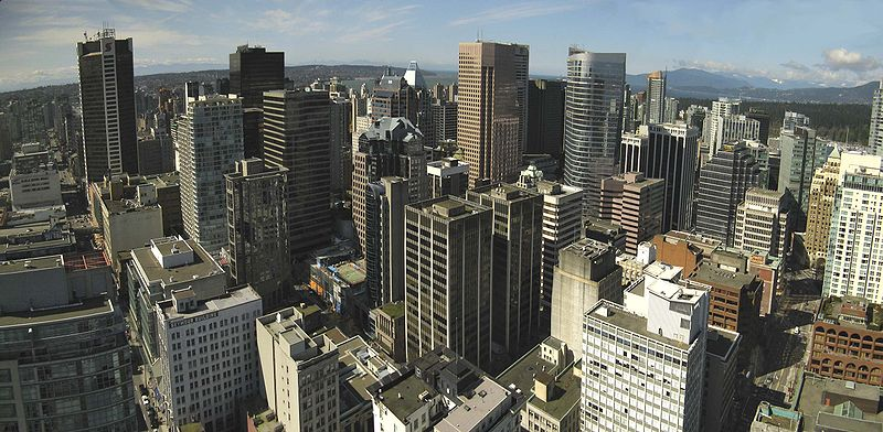 800px Vancouver downtown 世界1住みやすい都市ランキング発表!