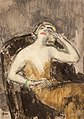 Vaszary - Yellow dressed lady in an armchair.jpg