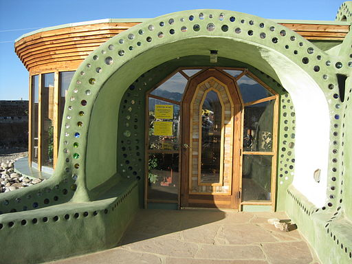 Vaulted Earthship entrance