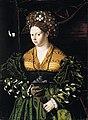 Veneto, Bartolomeo - Portrait of a Lady in a Green Dress - 1530.jpg