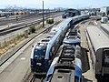 Venture test train at Oakland Maintenance Facility (3), July 2020.JPG