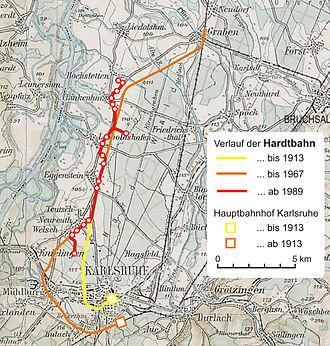 Hardt Railway - Historical development of the Hardt Railway