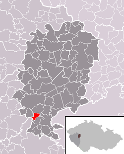 Location in Rokycany District