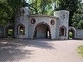 Veszprémvölgy 2016, castle-like park entrance.jpg