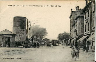 Ars-sur-Formans - The town was served by a metre-gauge Tramway from 1897 to 1951, from Ambérieu and Cerdon