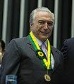 Vice-presidente Michel Temer com Medalha Mérito Legislativo 04.jpg