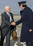 Vice President-elect Mike Pence arrives at Joint Base Andrews 02.jpg